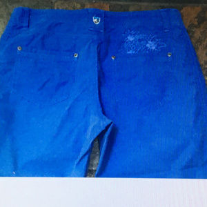"""KUHL Size 8 x 19"""" Blue Articulated Knee Crop Pants"""